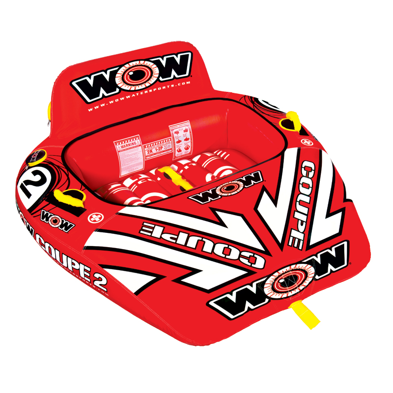 WOW Ski Tube, 2p COUPE COCKPIT towable